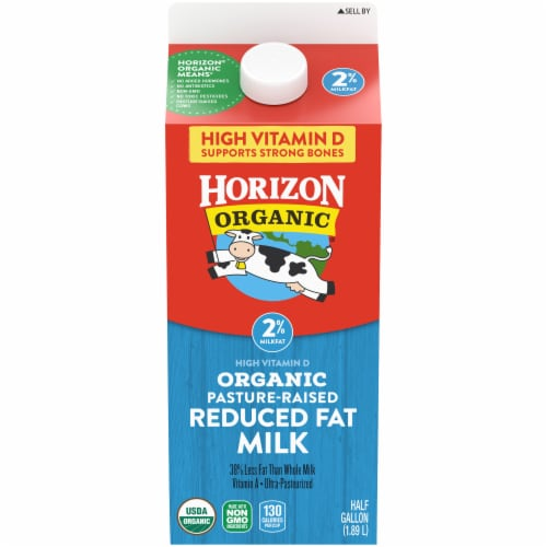 Horizon Organic 2% Reduced Fat Milk Perspective: front