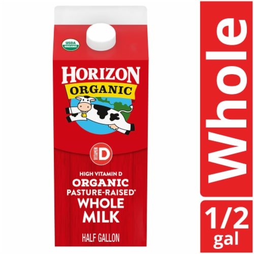 Horizon Organic Vitamin D Whole Milk Perspective: front