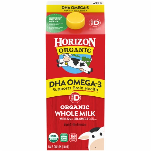 Horizon Organic DHA Omega-3 Whole Milk Perspective: front