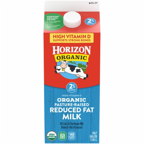 Horizon Organic 2% Reduced Fat Milk Perspective: front