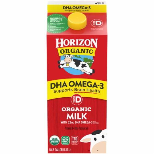 Horizon Organic DHA Omega-3 Vitamin-D Milk Perspective: front