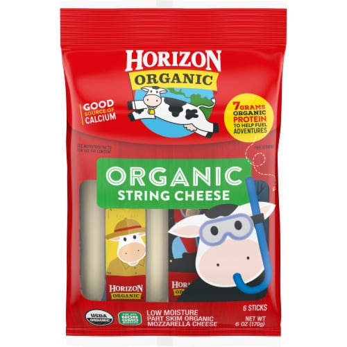 Horizon Organic Mozzarella String Cheese Perspective: front