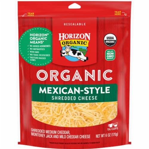 Horizon Organic Mexican Shredded Cheese Perspective: front