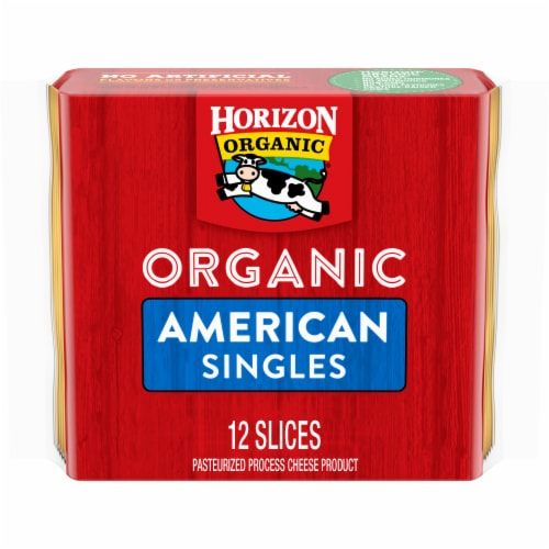 Horizon Organic American Cheese Singles Perspective: front