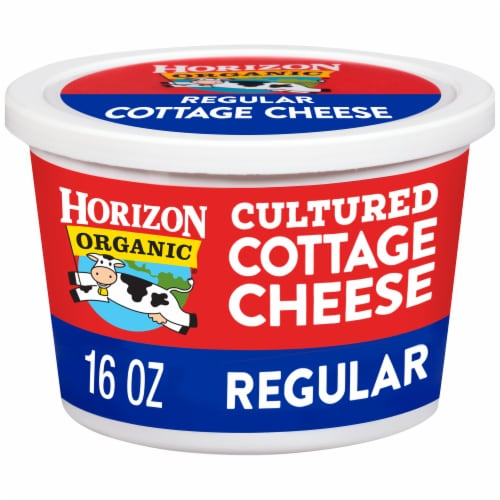 Horizon Organic Regular Cultured Cottage Cheese Perspective: front