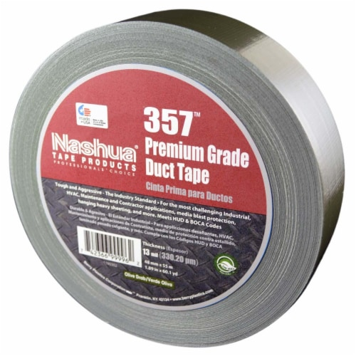 Nashua Duct Tape,Olive Drab,1 7/8inx60yd,13 mil  357 Perspective: front