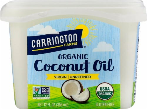 Carrington Farms Organic Virgin Coconut Oil Perspective: front