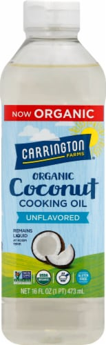 Carrington Farms Coconut Cooking Oil Perspective: front