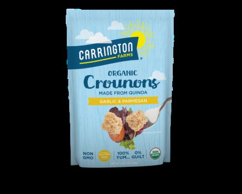 Carrington Farms Gluten Free Garlic & Parmesan Organic Crounons Perspective: front