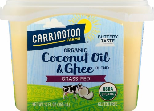 Carrington Farms  Organic Coconut Oil & Ghee Blend Grass fed Perspective: front