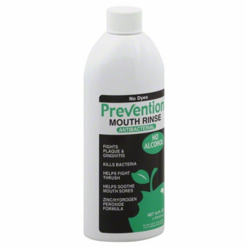 Prevention Antibacterial Mouth Rinse Perspective: front