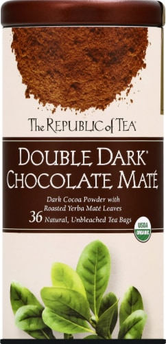 The Republic of Tea Double Dark Chocolate Mate Tea Bags Perspective: front