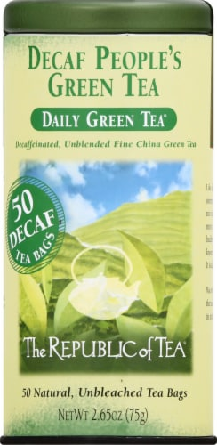 The Republic of Tea Decaf People's Green Tea Bags Perspective: front