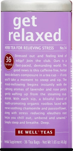 The Republic of Tea Get Relaxed Tea Bags Perspective: front