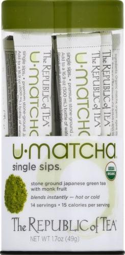 The Republic of Tea U-Matcha Single Sips Perspective: front