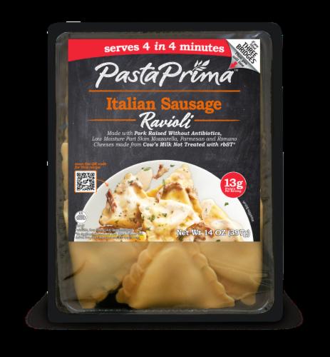 Pasta Prima Italian Sausage Ravioli Perspective: front