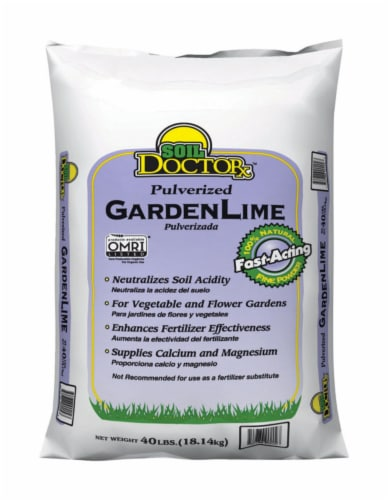 Soil Doctor Organic Pulverized Garden Lime 1000 sq. ft. 40 - Case Of: 1; Each Pack Qty: 1; Perspective: front