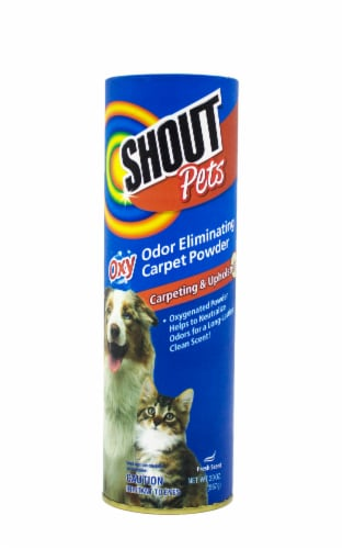 Shout Pets Fresh Scent Odor Eliminating Carpet Powder Perspective: front