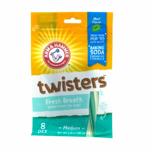 Arm & Hammer Twisters Mint Flavor Dental Dog Treats Perspective: front