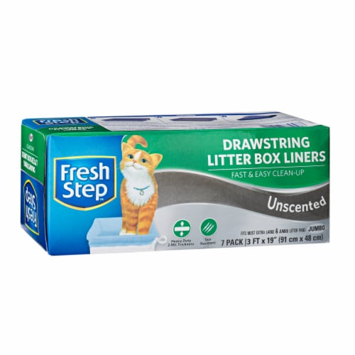 Fresh Step Jumbo Unscented Drawstring Litter Box Liners Perspective: front