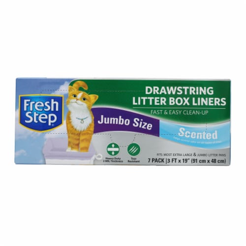 Fresh Step Jumbo Scented Drawstring Litter Box Liners Perspective: front