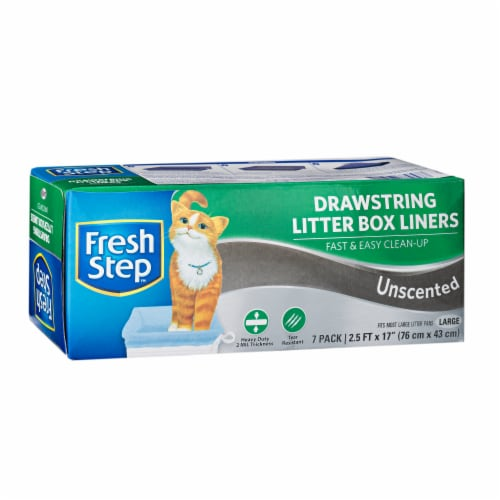 Fresh Step Large Unscented Drawstring Litter Box Liners Perspective: front