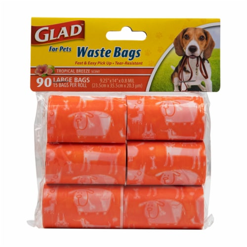 Glad For Pets Tropical Breeze Scented Waste Bags Perspective: front