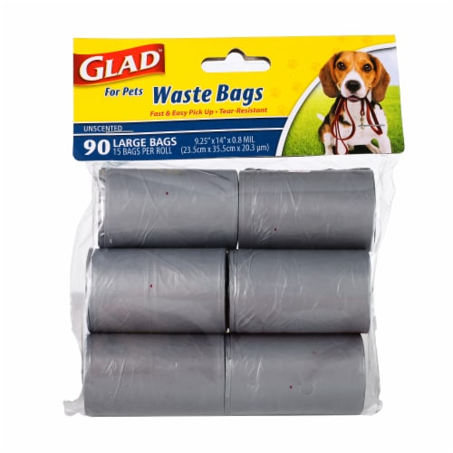 Glad For Pets Unscented Waste Bags Perspective: front