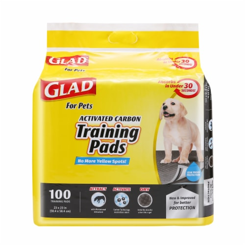 Glad Activated Charcoal Training Pads Perspective: front