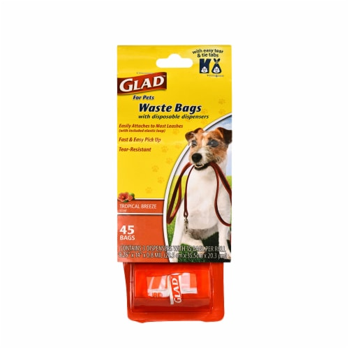 Glad Tropical Breeze Scented Dog Waste Bags and Dispensers Perspective: front