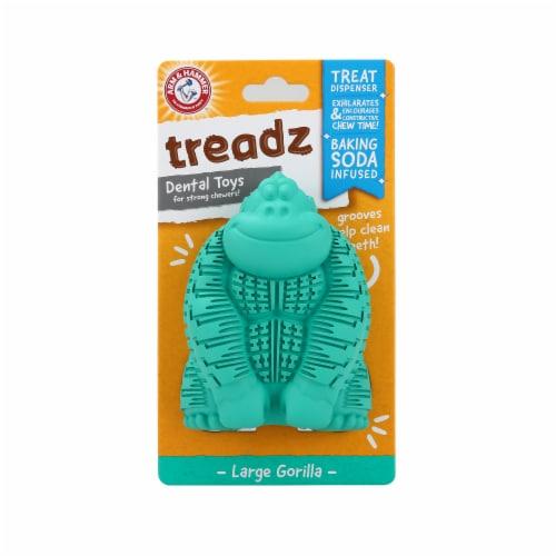 Arm & Hammer Treadz Large Gorilla Dental Dog Toy Perspective: front