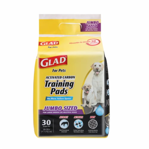 Glad Jumbo Activated Charcoal Training Pads Perspective: front