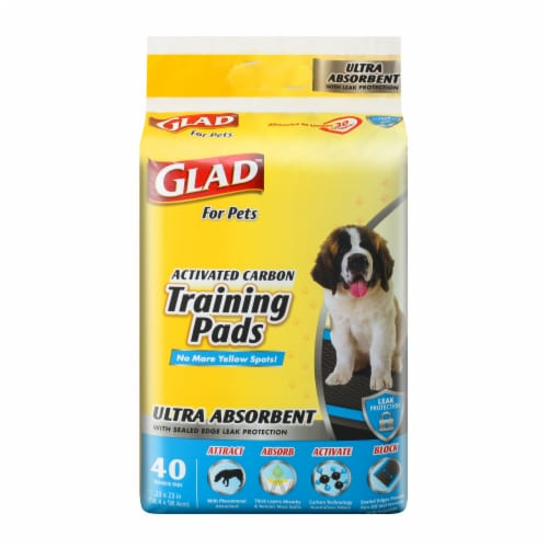Glad Ultra Activated Carbon Training Pads Perspective: front