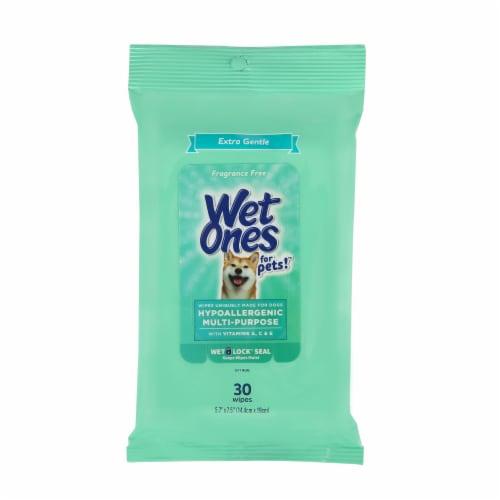 Wet Ones for Pets Extra Gentle Hypoallergenic Multipurpose Wipes Perspective: front