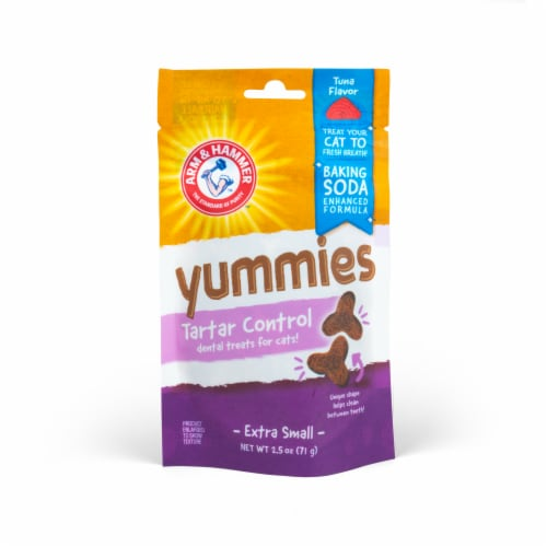 Arm & Hammer Yummies Tartar Control Extra Small Cat Treats Perspective: front