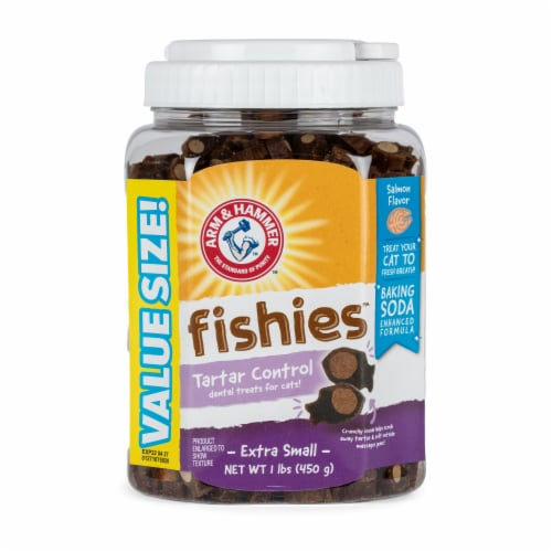 Arm & Hammer Fishies Tartar Control Extra Small Cat Treats Perspective: front