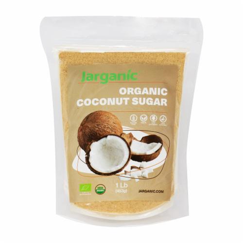 Organic Coconut Sugar 1 lb / 16 oz - Gluten-Free Vegan GMO-Free Paleo, Low Glycemic Index Perspective: front