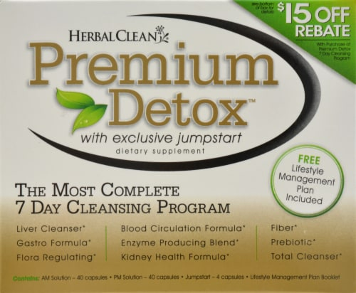 Herbal Clean Premium Detox 7 Day Cleansing Program Perspective: front