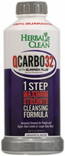 Herbal Clean  QCARBO32™ with Eliminex Plus™ Grape Perspective: front