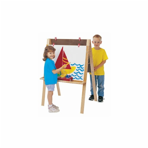 Jonti-Craft 0218JC DOUBLE ADJUSTABLE EASEL Perspective: front