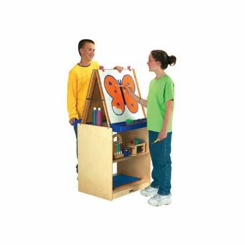 Jonti-Craft 02891JC 2 STATION EASEL - SCHOOL AGE Perspective: front