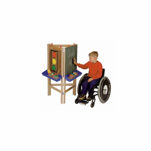 Jonti-Craft 0653JC 3 WAY ADJUSTABLE EASEL Perspective: front