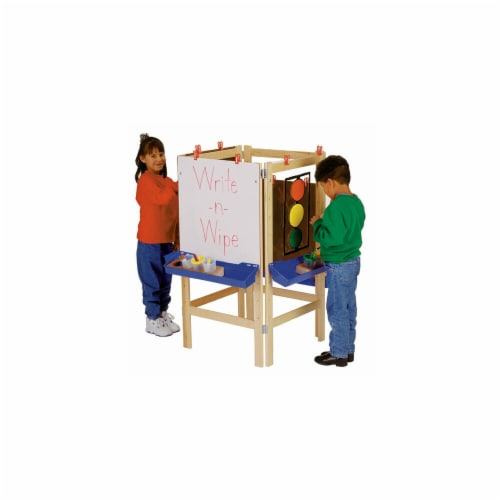Jonti-Craft 0654JC 4 WAY ADJUSTABLE EASEL Perspective: front