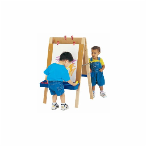 Jonti-Craft 4181JC TODDLER ADJUSTABLE EASEL Perspective: front