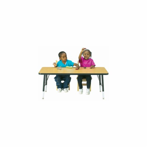 Jonti-Craft 6408JCT180 KYDZ ACTIVITY TABLE - RECTANGLE - 30 INCH x 60 INCH  11 INCH - 15 INCH Perspective: front