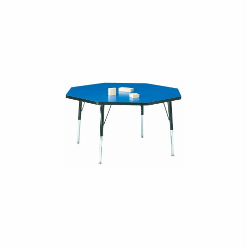 Jonti-Craft 6428JCA210 KYDZ ACTIVITY TABLE - OCTAGON - 48 INCH x 48 INCH  24 INCH - 31 INCH H Perspective: front