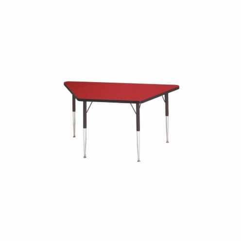 Jonti-Craft 6443JCE180 KYDZ ACTIVITY TABLE - TRAPEZOID - 30 INCH x 60 INCH  15 INCH - 24 INCH Perspective: front