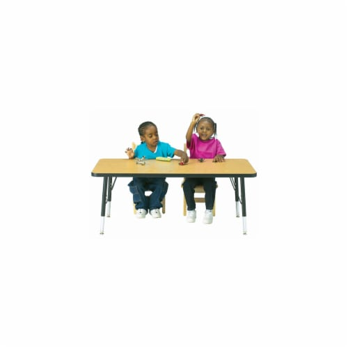 Jonti-Craft 6478JCA183 KYDZ ACTIVITY TABLE - RECTANGLE - 24 INCH x 36 INCH  24 INCH - 31 INCH Perspective: front