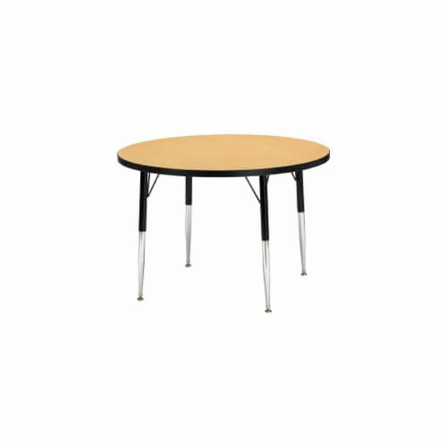 Jonti-Craft 6488JCE210 KYDZ ACTIVITY TABLE - ROUND - 36 INCH DIAMETER  15 INCH - 24 INCH HT - Perspective: front