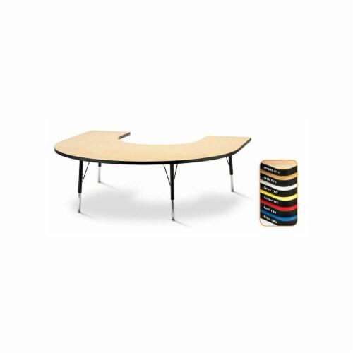Jonti-Craft 6445JCE210 66 in. x 60 in. RidgeLine Kydz Horseshoe Activity Tables - Elementary Perspective: front